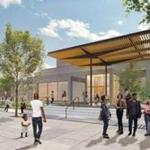 An artist's rendering on the library website of the renovated Dudley library branch.