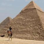In Egypt, the pyramids of Giza.