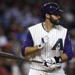 Arizona Diamondbacks' J.D. Martinez steps in to bat against the Colorado Rockies during the seventh inning of a baseball game Thursday, Sept. 14, 2017, in Phoenix. The Diamondbacks defeated the Rockies 7-0. (AP Photo/Ross D. Franklin)