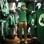 Boston, MA - 11/21/17 - Jeff Lentz (cq), of Bay City, Michigan, checks out Celtics gear at the Boston ProShop in TD Garden. He was in town visiting his brother.