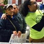 Protesters in November joined Ramona Alvarez and her husband, Juan Tejeda, owners of El Embajador, which faces eviction in Egleston Square.