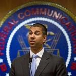 FILE -- Ajit Pai, chairman of the Federal Communications Commission, at the federal agency's headquarters in Washington, June 23, 2017. The FCC announced on Nov. 21 that it planned to dismantle landmark regulations that ensure equal access to the internet, clearing the way for companies to charge more and block access to some websites. (Eric Thayer/The New York Times)