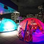 12/07/2017 BOSTON, MA Temporary dome/igloos are heated for guests at the Lookout Rooftop and Bar in Boston. (Aram Boghosian for The Boston Globe)