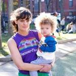 Frankie Shaw as Bridgette and Alexandra or Anna Reimer as Larry in