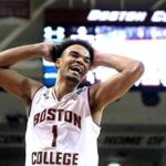 Chestnut Hill MA 02/17/18 Boston College Eagles Jerome Robiinson reacting after he was called for a foul against Norte Dame Fighting Irish during second half action at Conte Forum. (Matthew J. Lee/Globe staff) topic: reporter: