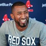 Fort Myers, FL 2/18/2018: The Red Sox signed Eduardo Nunez to a one year contract today, and he met the media soom after arriving in camp. Spring Training for the Red Sox continued today at the Player Development Complex at Jet Blue Park. (Jim Davis/Globe Staff)