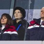 Vice President Mike Pence and his wife, Karen, stood with Kim Yo Jong, sister of North Korean leader Kim Jong Un, during the opening ceremony of the 2018 Winter Olympics in Pyeongchang.