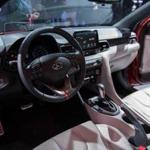 The National Highway Traffic Safety Administration has opened an investigation into a series of deadly crashes in which airbags in Hyundai and Kia cars failed to inflate. Above: The interior of a Hyundai Veloster.