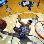 ATLANTA, GA - MARCH 22: Barry Brown #5 of the Kansas State Wildcats goes up with the ball against Sacha Killeya-Jones #1 of the Kentucky Wildcats in the first half during the 2018 NCAA Men's Basketball Tournament South Regional at Philips Arena on March 22, 2018 in Atlanta, Georgia. (Photo by Kevin C. Cox/Getty Images)
