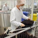 A worker packed drugs  at Takeda in Oranienburg, Germany.