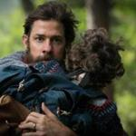 "John Krasinski (left) and Noah Jupe in a scene from ""A Quiet Place."""