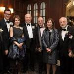 Literary Lights honorees and presenters (from left) Stephen Kinzer, Brian Selznick, Stacy Schiff, Julian Fellowes, Gregory Maguire, Jane Mayer, André Aciman, and Alice Hoffman.