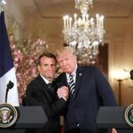 President Trump Tuesday praised his warm relationship with French President Emmanuel Macron.