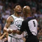 Marcus Smart sought on-court justice after J.R. Smith pushed Al Horford late in Game 2 of the Celtics-Cabs series.