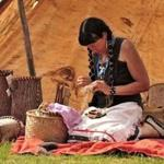 Jennifer Lee, Narragansett, spoke about traditional lifeways of the Northeast Woodlands People at a previous Spring Planting Moon Pow-wow.