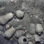 23ship -- Ceramics and artifacts found on the site of the shipwreck. (Woods Hole Oceanographic Institution)