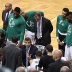 Boston MA 5/23/18 Boston Celtics head coach Brad Stevens during a time out against the Cleveland Cavaliers during fourth quarter action of the NBA Eastern Conference Finals at TD Garden. (photo by Matthew J. Lee/Globe staff) topic: reporter: