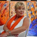 Cheryl Dyment posed for a portrait at her studio in Middleton.