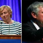 Janet Mills (left) and Shawn Moody are battling to become Maine's next governor.