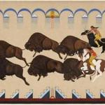 Buffalo Hunt, Velino Shije Herrera (Ma-Pi-We) (Native American (Zia), ?1902Ð1973) before 1928 Opaque and transparent watercolor on paper * Gift of the Estate of David Rockefeller from the Collection of David and Peggy Rockefeller * Photograph © Museum of Fine Arts, Boston mfarockefeller