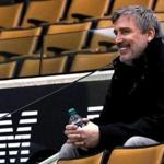 Toronto, Ontario - 4/18/2018 - Boston Bruins General Manager Don Sweeney and Bruins President Cam Neely watch today's practice at Air Canada Centre in preparation for Game 4 against the Toronto Maple Leafs. - (Barry Chin/Globe Staff), Section: Sports, Reporter: Julian Benbow, Topic: 19Bruins practice, LOID: 8.4.1641487186.