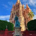 The neo-gothic spires of the Parroquia de San Miguel Arcángel are the focal point of San Miguel de Allende in Mexico