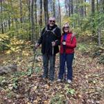 Lynn Van Hulse and Butch Beck from Arizona hiked a trail in west-central Vermont.