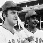 Boston Red Sox rookie sensations Fred Lynn, left, and Jim Rice, in Boston, on Aug. 4, 1975, both outfielders with exceptional hitting ability. It has been 25 years since rookie teammates drove in 100 runs apiece. Lynn and Rice appear sure bets to do it with the Red Sox. Boston manager Darrell Johnson said,