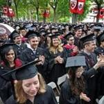 Harvard students at the 2017 commencement.