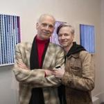 John Waters (left) and John Cameron Mitchell (right) posed for a photo at the HBO Schoolhouse Party on Friday evening at the Provincetown International Film Festival.