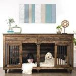 B&B Kustom Kennels' Double Doggie Den (from $1,149) is designed for a two-dog family and is crafted to look like a stylish piece of furniture. MUST CREDIT: B&B Kustom Kennels