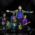 PASADENA, CALIFORNIA - AUGUST 22: (L-R) Ronnie Wood, Charlie Watts, Mick Jagger and Keith Richards of The Rolling Stones perform onstage at Rose Bowl on August 22, 2019 in Pasadena, California. (Photo by Kevin Winter/Getty Images)