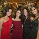 11-30-2019 Boston, Mass. 325 guests attended 73 Mistletoe Ball held at the Copley Plaza Hotel, the event raised over 100,000 dollars. The event is one of the longest standing holiday traditions in Boston. Since 1946, friends and family have gathered to share a meal and enjoy an evening of music and dancing as they kick off the holiday season. The Hellenic Women's Club has raised over 2 million dollars in support of its established charities. L. to R. Angelina Spiropoulos of Quincy, Georgia Souliotis of Salem, N.H., Nikoletta Moutsopou of Quincy and Chrisanthee Coufos of Salem, N.H. Photo by Bill Brett for the Boston Globe.