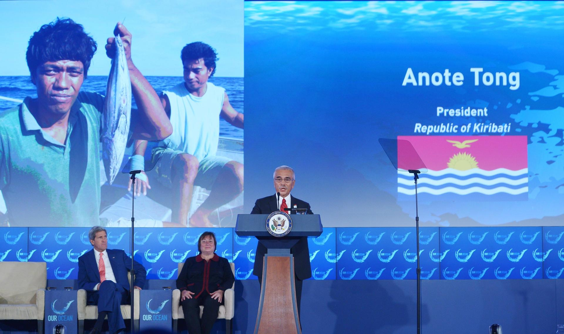 Kiribati President Anote Tong at a State Department ocean conference in June.