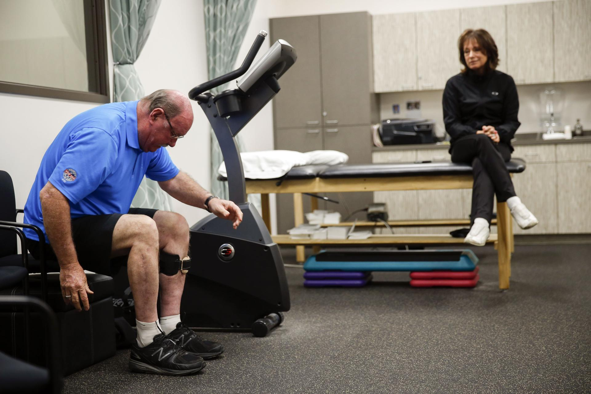 John Odom can walk again, although part of his left leg is essentially paralyzed and he needs regular therapy.