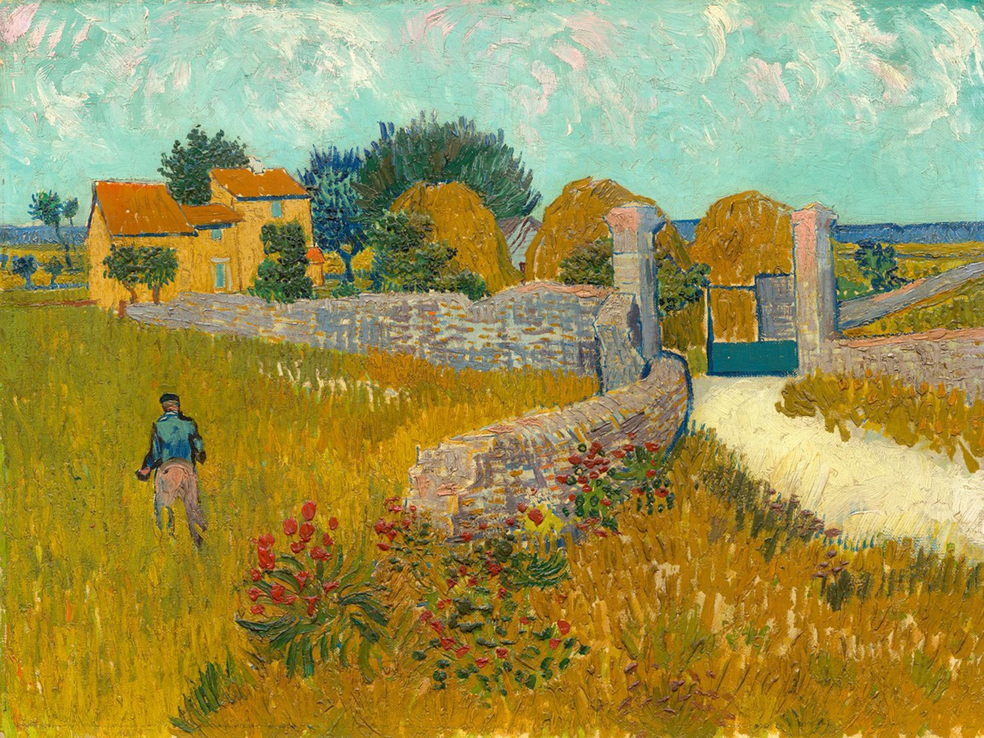 "Vincent van Gogh's ""Farmhouse in Provence."""