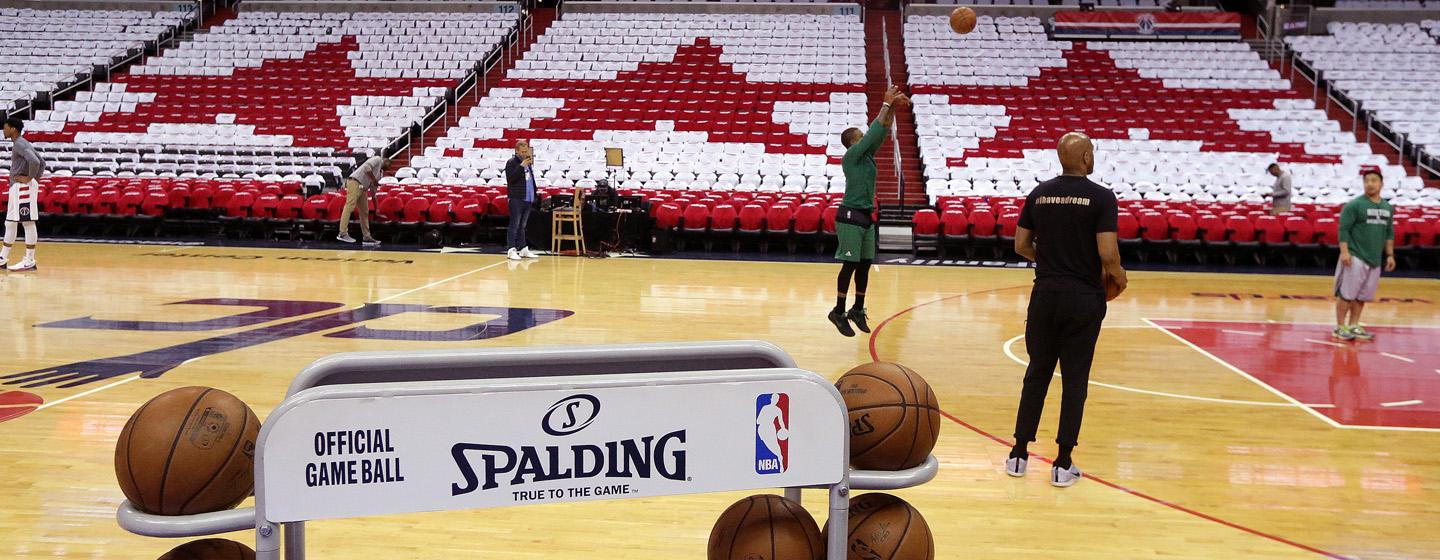 Several hours before the start of Celtics-Wizards Game 4, Isaiah Thomas practiced shooting.