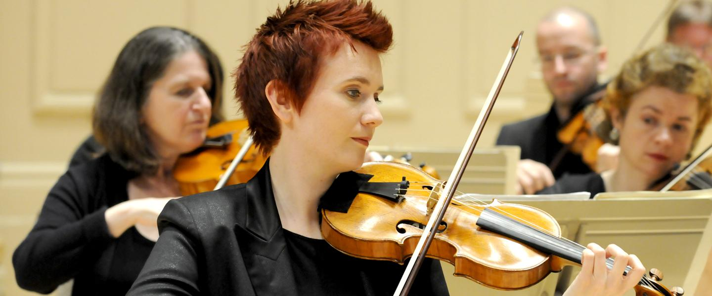 Violinist Aisslinn Nosky and her Handel and Haydn Society colleagues will perform Beethoven's Triple Concerto.