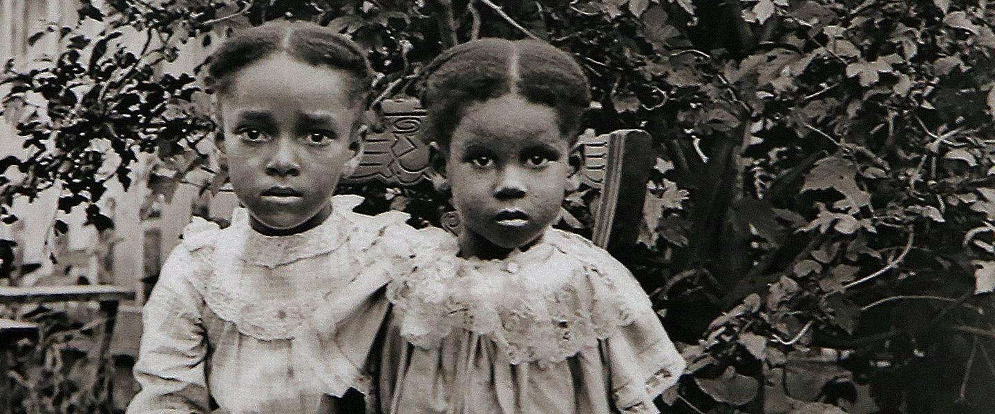 "Two girls are depicted in ""Portrait of the Jackson Children,"" which is among the images that will be on display in ""Rediscovering an American Community of Color: The Photographs of William Bullard"" at the Worcester Art Museum in October."