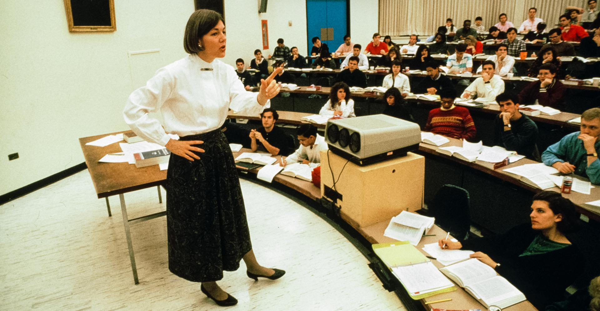 Elizabeth Warren, the future senator, taught a class at University of Pennsylvania Law School in Philadelphia in the early 1990s.