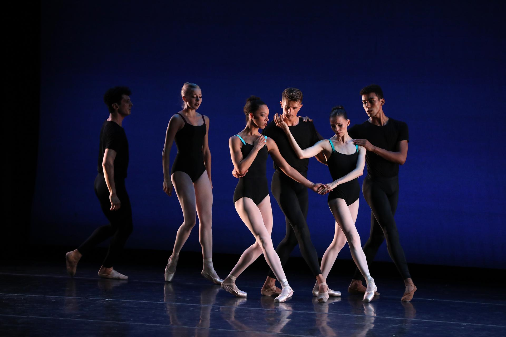 Becket, MA 8/24/19 Boston Ballet dancer Chyrstyn Fentroy (cq), center, performs in the company's