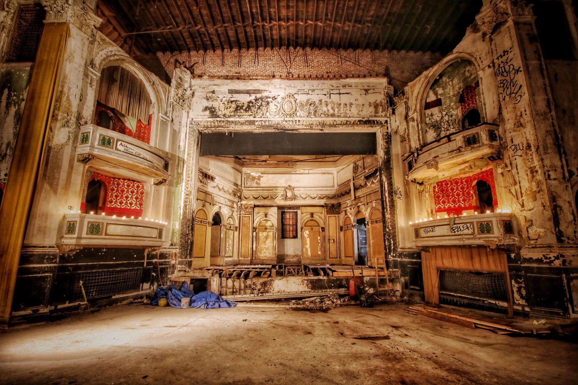 31abandoned - The picture house at the Everett Square Theatre, built as a Òmoving picture