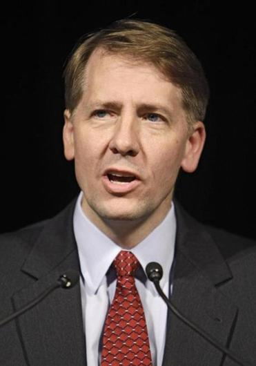 Former Ohio Attorney General Richard Cordray spoke at an event in Columbus, Ohio, in 2010.