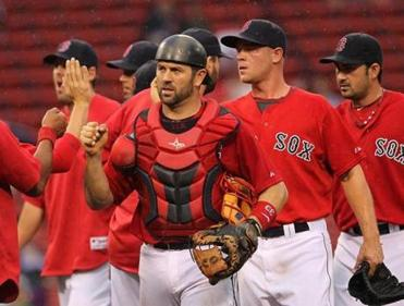 Varitek first played for the Red Sox in 1997, coming over in a trade from the Mariners with Derek Lowe for Healthcliff Slocumb.