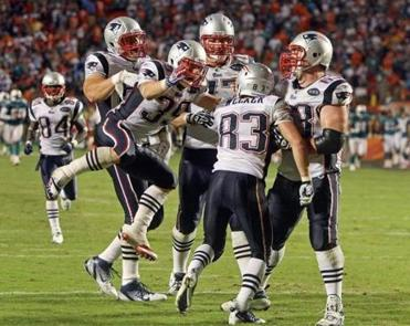 Tom Brady connected with Wes Welker on a 99-yard touchdown pass in the opener.
