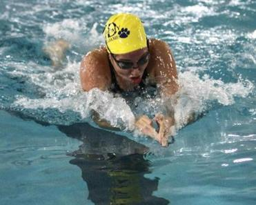 Notre Dame's Taylor Ellis finished second in the 500 freestyle at the MIAA Girls' South Sectional.