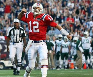 The Patriots donned their throwback uniforms in beating the Jets on Oct. 9.