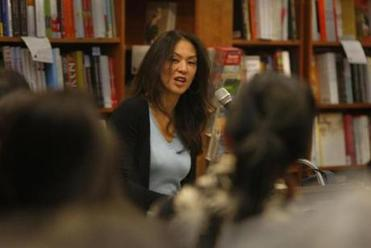"Tiger Mom: Amy Chua, author of the book ""Battle Hymn of the Tiger Mother,"" read excerpts from her book at Harvard Bookstore on February 22, 2011."