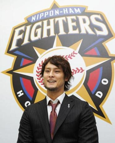 Nippon Ham Fighters pitcher Yu Darvish went 18-7 with a 1.44 ERA and 276 strikeouts in 232 innings last season in the Pacific League. In five seasons in Japan, he went 76-28 with a 1.72 ERA in 128 appearances.
