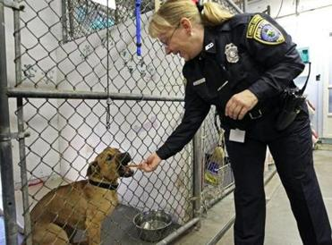 Jagger was fed by Animal Control Officer Nancy Bersani.
